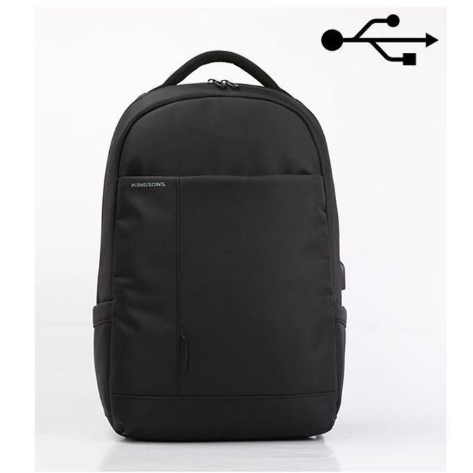 "Раница за лаптоп Kingsons K9007W, до 15.6"" (39.60cm), водонепромокаема, черна image"