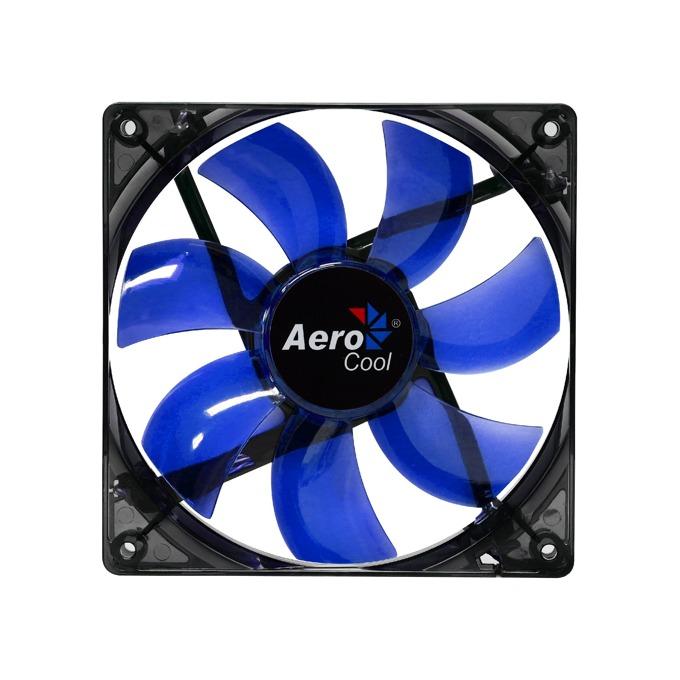 Вентилатор 120mm AeroCool Lightning Blue LED, 3-pin, 1200rpm image