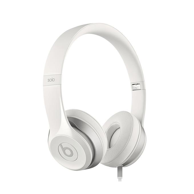 Слушалки Beats by Dre Solo HD 2.0 On Ear, бели, микрофон, сгъваеми, оптимизирани за iPhone/iPad/iPod image