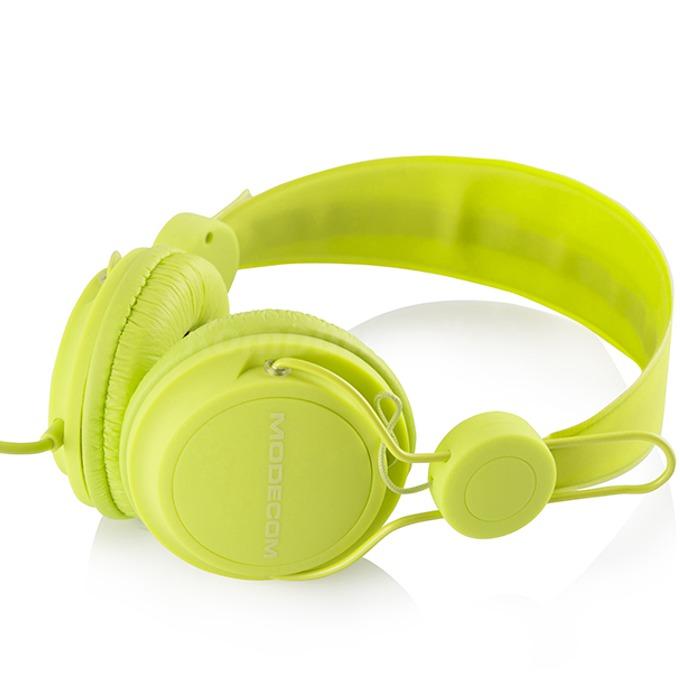 Слушалки Modecom MC-400 FRUITY, микрофон, зелени image
