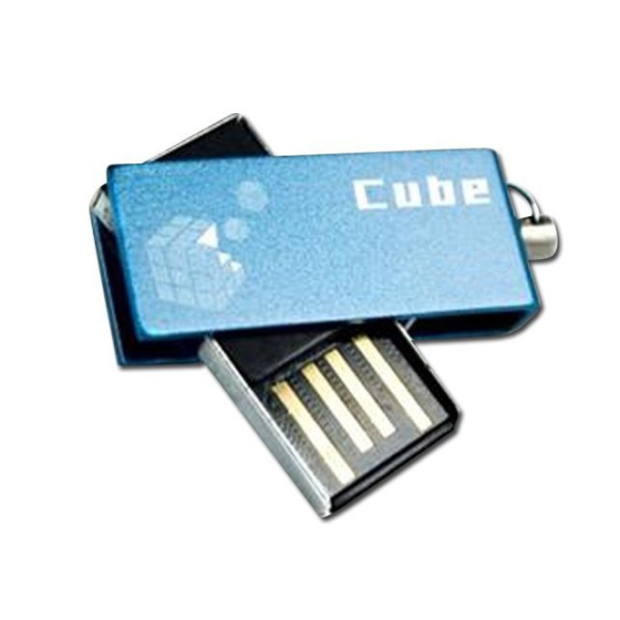 8GB USB Flash Drive, Goodram Cube, USB 2.0, синя image