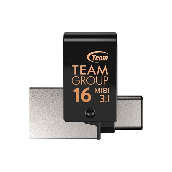 Памет 16GB USB Flash Drive, Team Group M181, USB-C 3.1, черна image