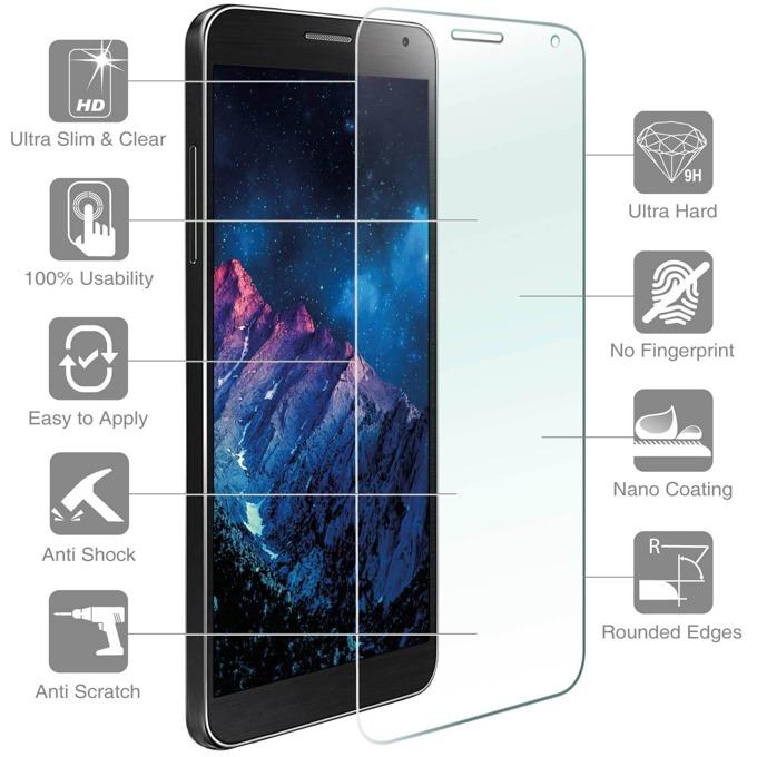Протектор от закалено стъкло /Tempered Glass/, 4Smarts за Motorola Moto G4 Plus, в комплект с 4smart TPU кейс image