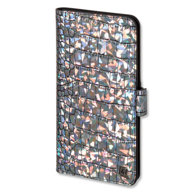 "Калъф за телефони до 5,8"", отваряем, еко кожа, 4smarts Ultimag Book Norwalk Croco, разноцветен image"