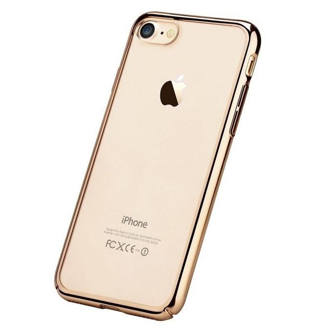 Калъф за Apple iPhone 7+, страничен протектор с гръб, поликарбонат, Devia Glimmer, златист image