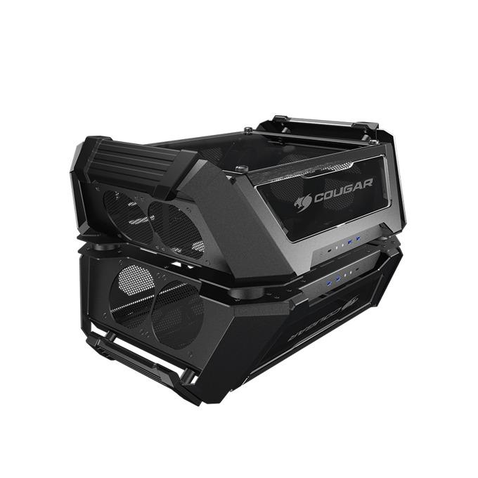 Кутия Cougar Gemini X, Mini-ITX/Micro-ATX/ATX/CEB, USB-C 3.1 Gen2, Dual Tower, черна, без захранване image