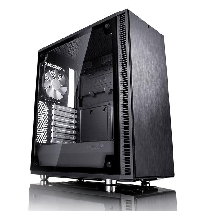 Кутия Fractal Design Define C TG, ATX/mATX/ITX, прозорец, черна, без захранване image