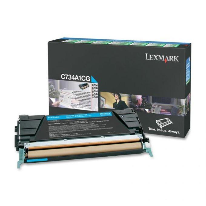 КАСЕТА ЗА LEXMARK OPTRA C734/C736/X734/X736/X738 - Cyan - P№ C734A1CG - заб.: 6000k image