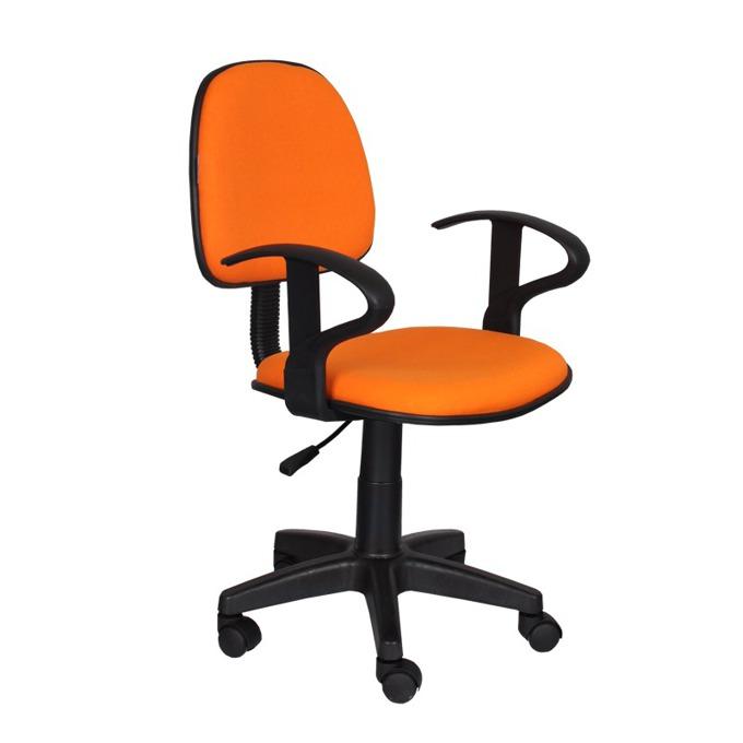 Детски стол Carmen 6012, дамаска, подлакътници, газов амортисьор, оранжев image