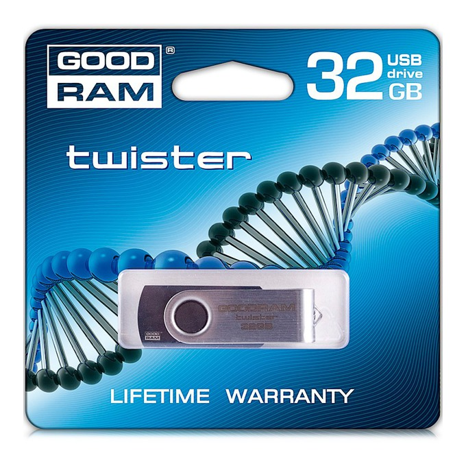 32GB USB Flash Drive, Goodram Twister, USB 2.0, черна image