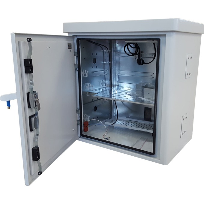 Комуникационен шкаф MIRSAN MR.MOB02.03 за CCTV оборудване, 680 x 710 x 510 мм, D=400 мм, IP65, бял image