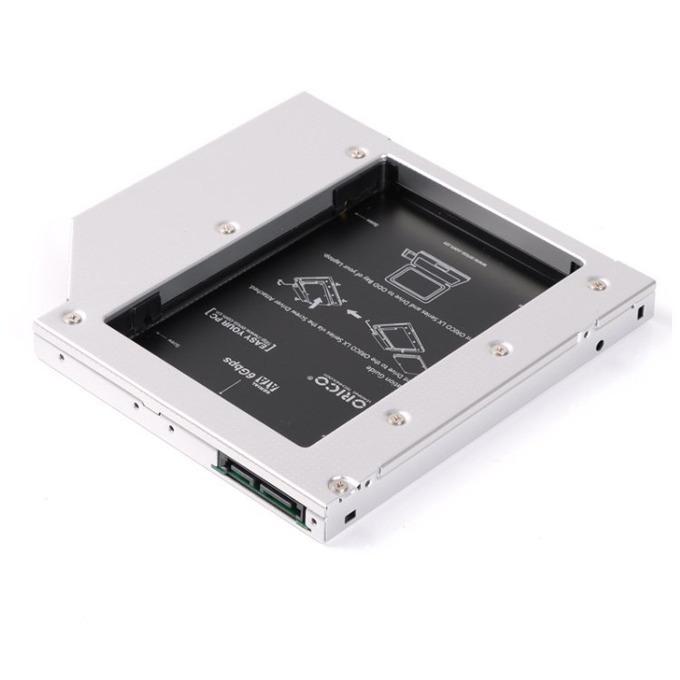 """Преходник (mounting bracket) Orico L95SS, DVD към SATA, за втори 2.5"""" HDD/SSD, сив image"""
