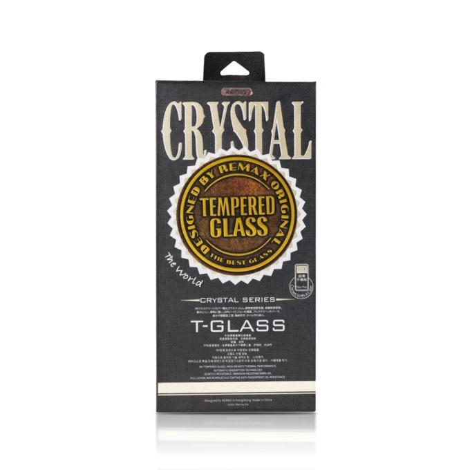 Протектор от закалено стъкло /Tempered Glass/ в комплект с калъф Remax Crystal, за Apple iPhone 7/8 Plus, смартфон, черен image