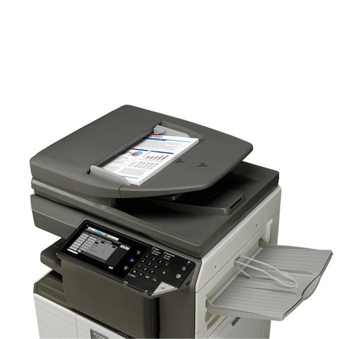 Мултифункционално лазерно устройство Sharp MFP MX-M266N, монохромен, принтер/копир/скенер/факс, 600 x 600 dpi, 26 стр/мин, LAN 100, USB, A3  image