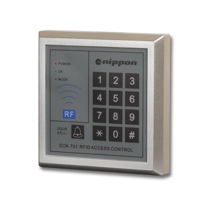 Nippon ECK-701, терминал с четец и клавиатура, открит монтаж, управление на електронна брава, до 800 карти image