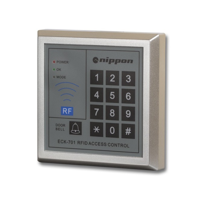 Четец Nippon ECK-701, терминал с четец и клавиатура, открит монтаж, управление на електронна брава, до 800 карти image