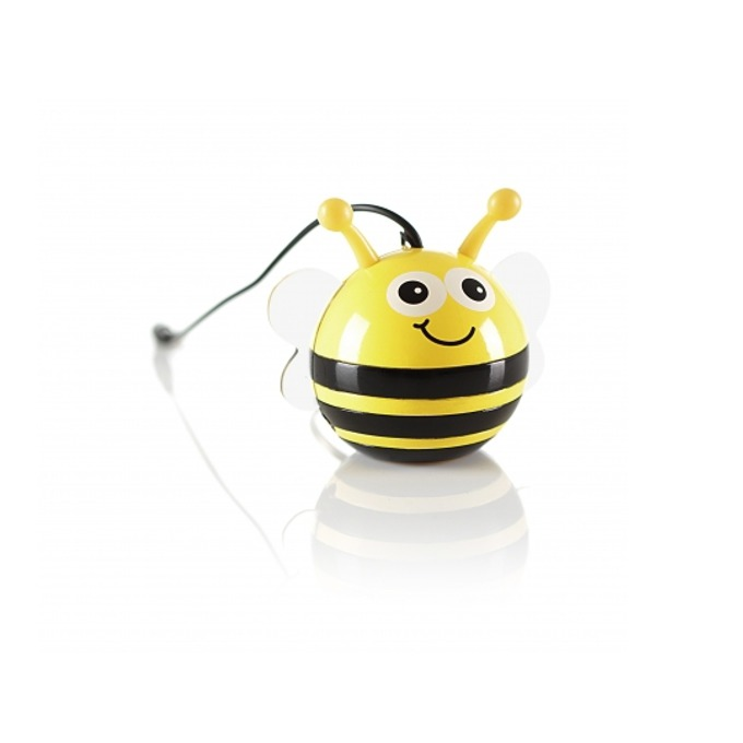 Тонколона KitSound Mini Buddy Speaker Bee, 1.0, 2W, USB, жълт image