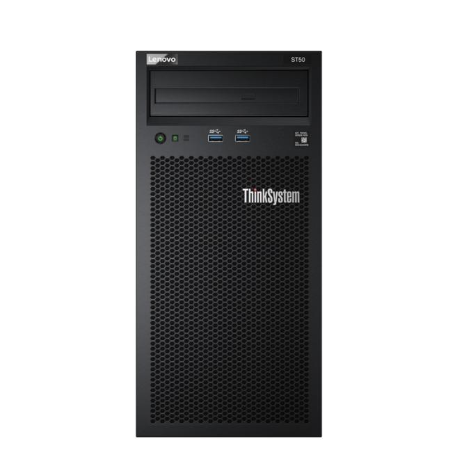 Сървър Lenovo ThinkSystem ST50 Tower (7Y48A008EA), четириядрен Coffee Lake Intel Xeon E-2124G 3.4/4.5 GHz, 8GB DDR4 UDIMM, без HDD, 1x 1GE LOM, 2x USB 3.1, без ОС, 250W Platinum PSU image