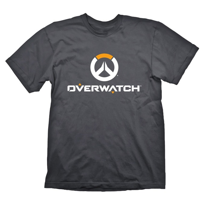 Тениска Gaya Entertainment Overwatch logo, размер XXL, сива image