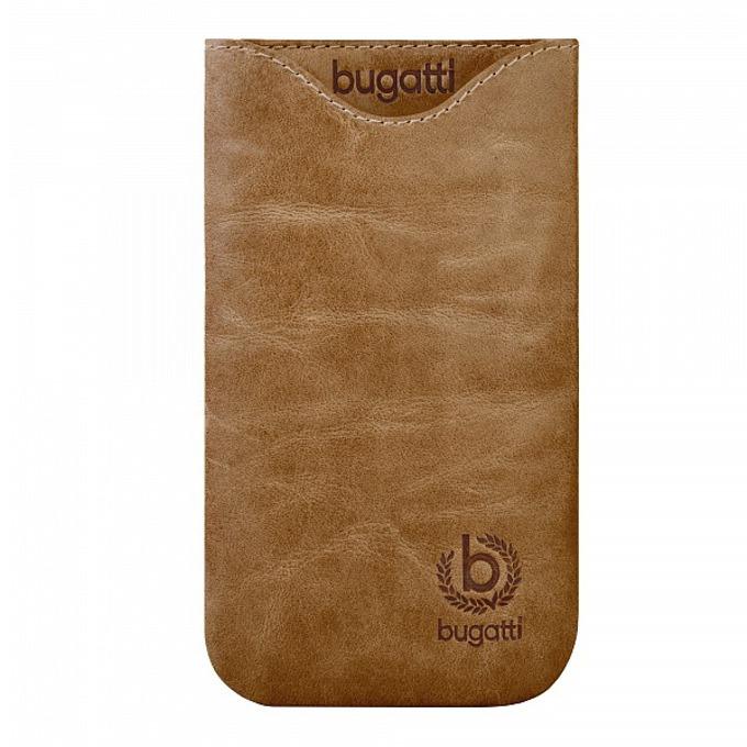 Универсален калъф, джоб, естествена кожа, Bugatti Skinny XL Desert, кафяв image