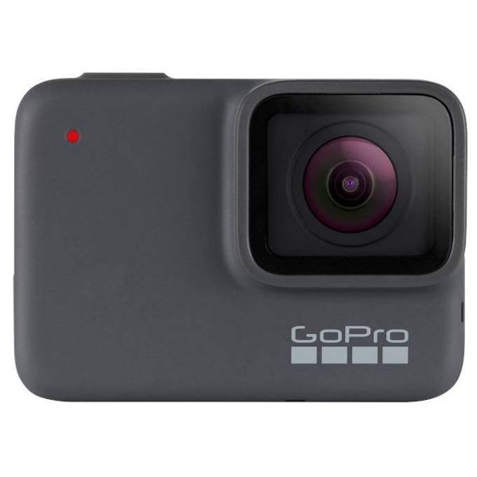"""Екшън камера GoPro HERO7 Silver, камера за екстремен спорт, 4K@30fps, 2"""" (5.08 cm) мулти-тъч сензорен дисплей, microSD слот, USB (Type-С), Wi-Fi, Bluetooth, GPS image"""