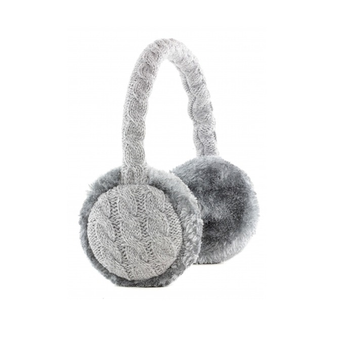 Слушалки KitSound Earmuffs Knit, 40mm говорители, 3.5mm jack, 103dB, сиви image