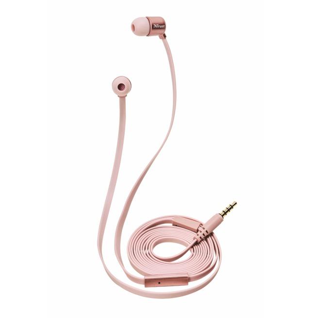 Слушалки TRUST Duga In-Ear Headphones, микрофон, розовозлатисти image