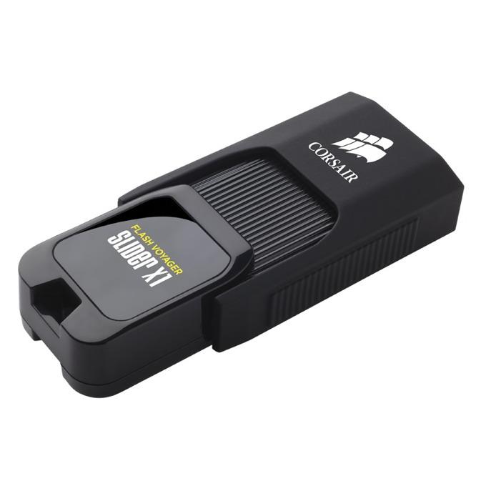 Памет 32GB USB Flash Drive, Corsair Voyager Slider X1, USB 3.0, черна image