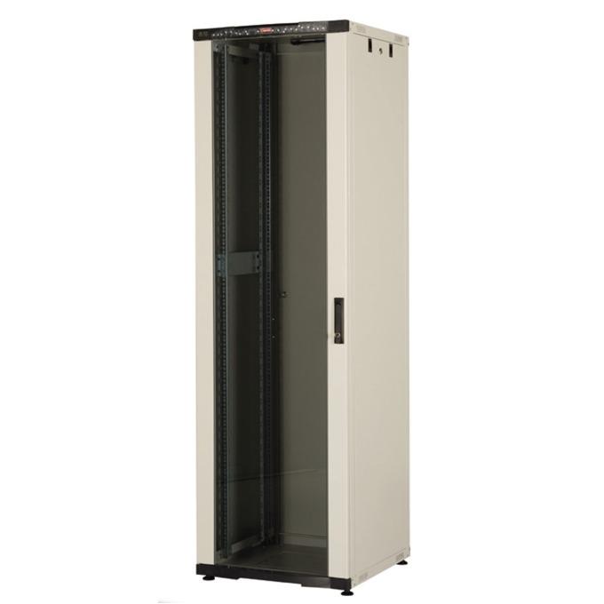 "Комуникационен шкаф Lande LN-CK22U6060-LG-121, 19"", 22U, 600 x 600 мм, LCD термометър, сив image"