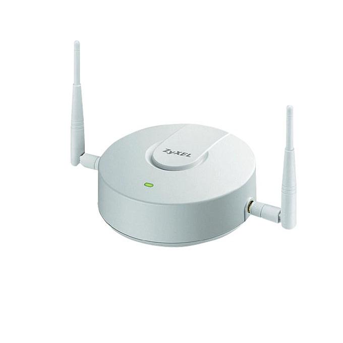 Access point/Аксес пойнт ZyXEL NWA5121-N безжичен 802.11b/g/n бизнес AP, 300Mbps, 2x3dBi външни антени, Gigabit LAN, PoE image