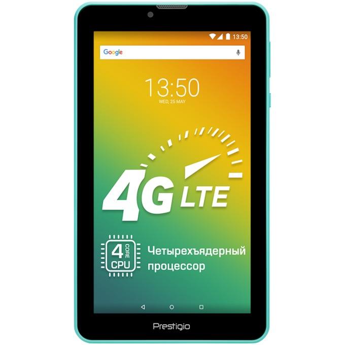 "Таблет Prestigio Wize 3437 (зелен), LTE, 7"" (17.78 cm) IPS дисплей, четириядрен 1.3GHZ, 1GB RAM, 8GB Flash памет (+ microSD слот), 2.0 & 0.3 Mpix, Android image"