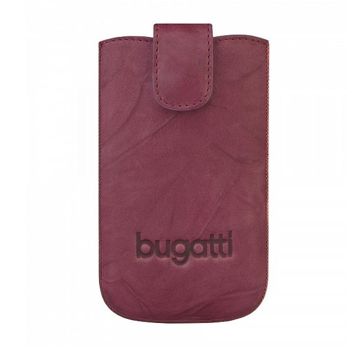 Универсален калъф, джоб, естествена кожа, Bugatti Unique Leather Case S, бургунди image