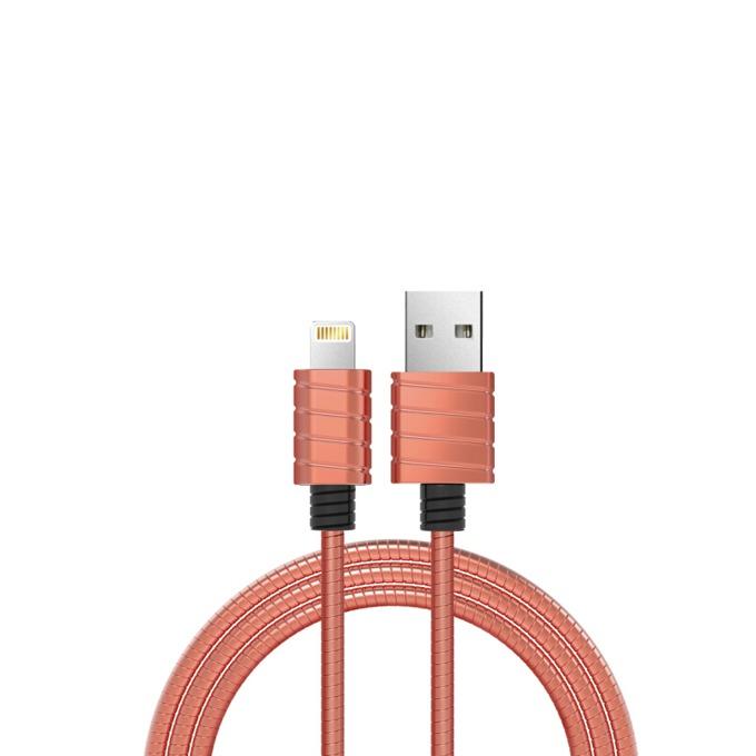 Кабел iWalk, USB(м) към Lightning(м), 1m, розов image