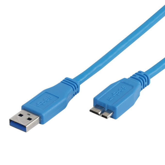 Кабел Vivanco 45278, USB A(м) към USB Micro B(10-pin)(м), 1.8m, син image
