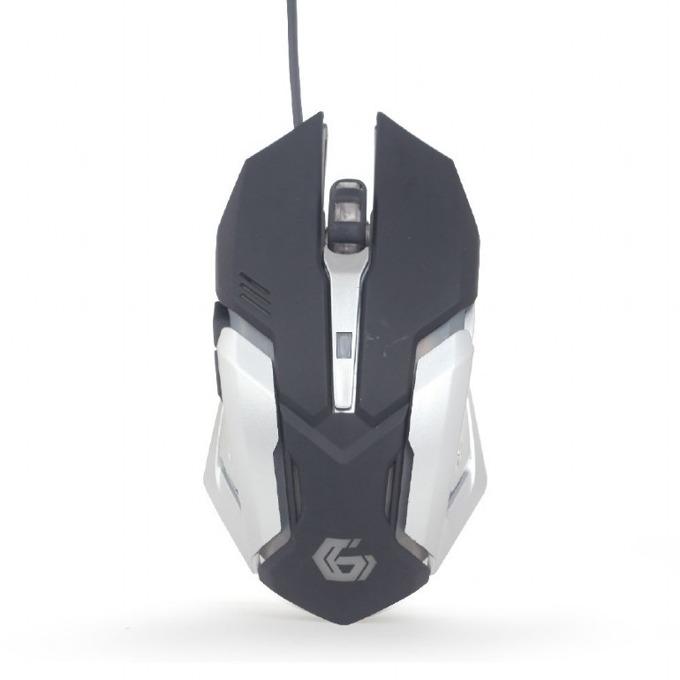 Мишка Gembird MUSG-07, оптична(3200 dpi), 6 бутона, USB, черен/сив, RGB image