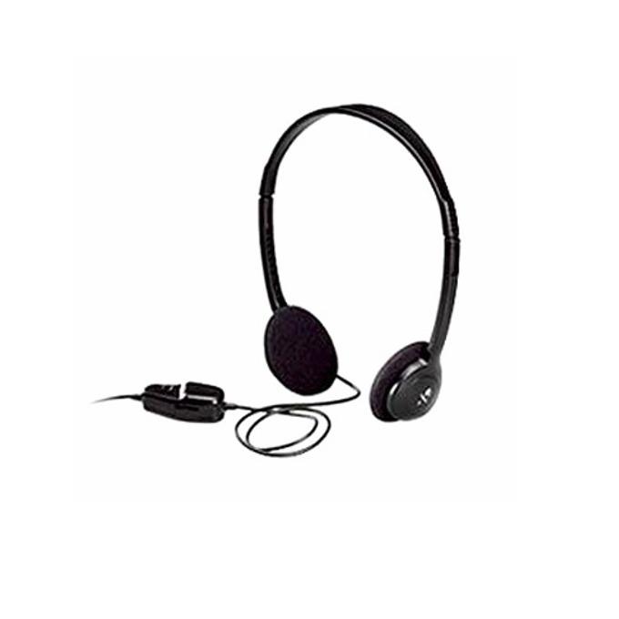 Слушалки Logitech Dialog-220(LGT-HD220), 3.5мм жак, черни, ОЕМ image