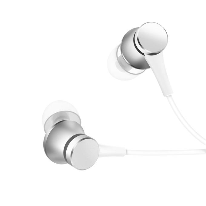 Слушалки Xiaomi Mi Earphones Basic, микрофон, сиви image