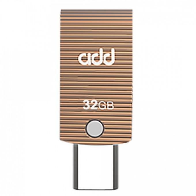 Памет 32GB USB Flash Drive, Addlink T60, USB 3.0, златиста image