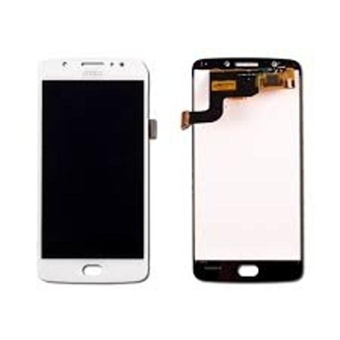 Дисплей за Motorola Moto E4, LCD original, с тъч, бял image