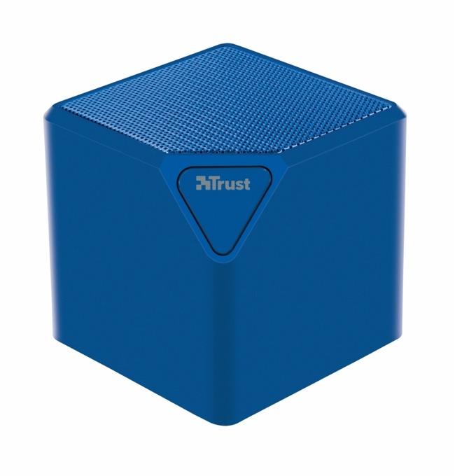 Тонколона Trust Ziva UR wireless speaker, 1.0, 3W, Bluetooth, SD card slot, micro USB, синя image