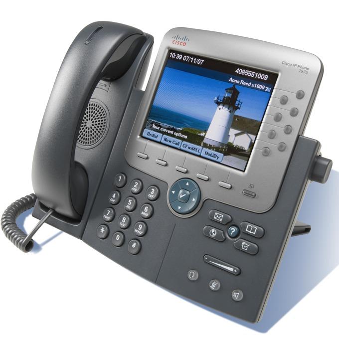 VoIP Телефон, Cisco 7975, Gig Ethernet, 8 линии, цветен дисплей, spare image
