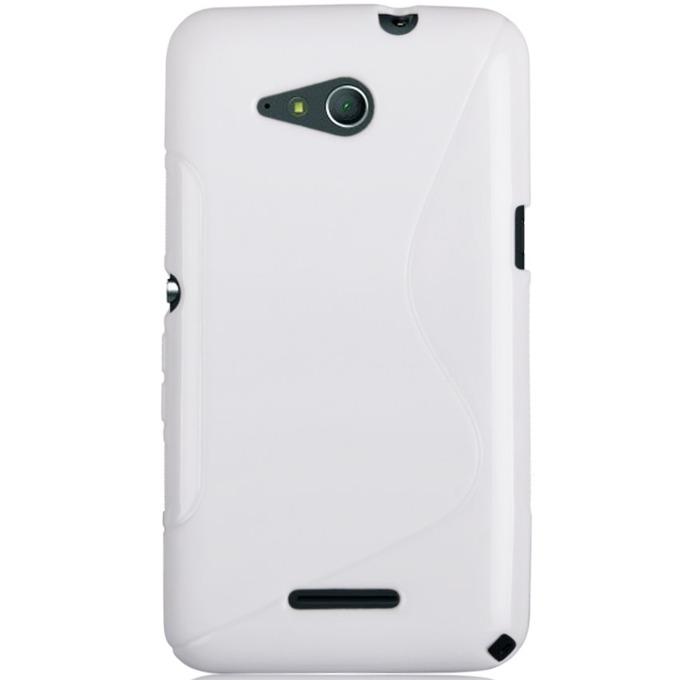 Силиконов протектор S-Line Cover Case, за Sony Xperia E4G, бял image
