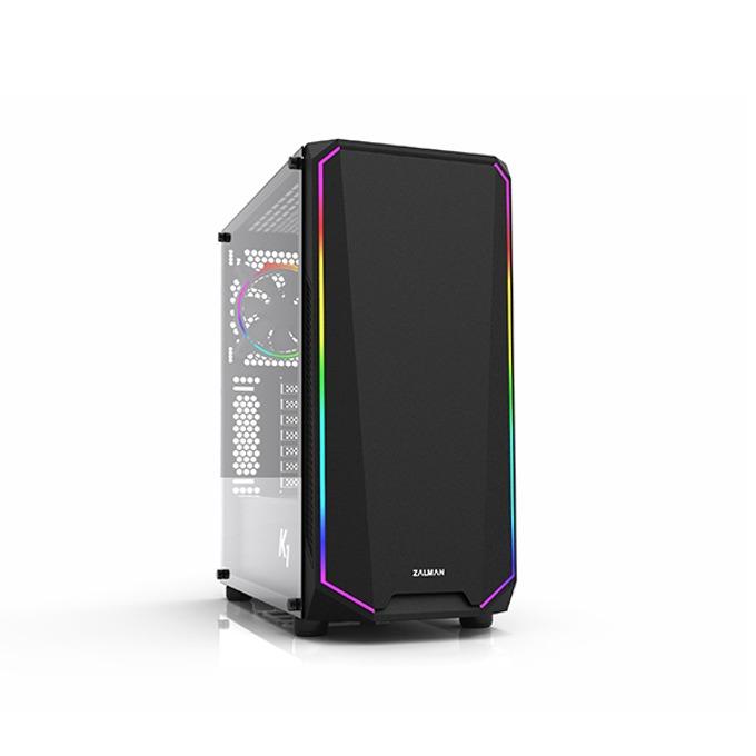 Кутия Zalman K1, ATX/mATX/Mini-ITX, 2x USB 3.0, 1x 120mm RGB вентилатор, черна, без захранване image