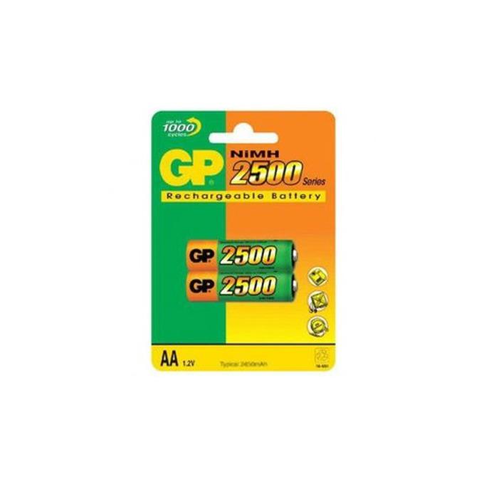 Акумулаторна Батерия GP NiMH R6/AA, 2500mAh, 2 бр. GP250AAHC  image