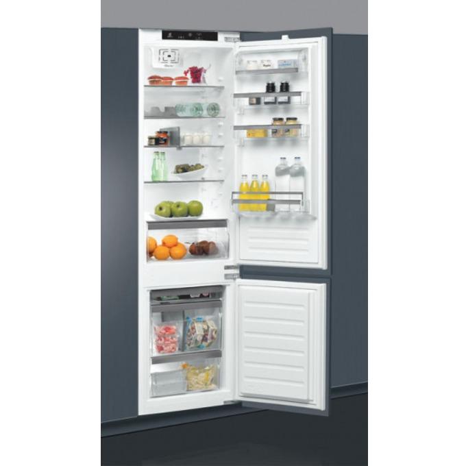Хладилник с фризер Whirlpool ART 9810/A+, клас А+, 308 л. общ обем, за вграждане, 314 kWh/годишно, 6-о чувство, електронно управление, LED осветление, бял image