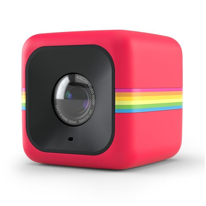Екшън камера Polaroid CUBE, Full HD, 124° зрителен ъгъл, microSD слот(до 32GB), microUSB Type B, устойчива на пръски, червена image