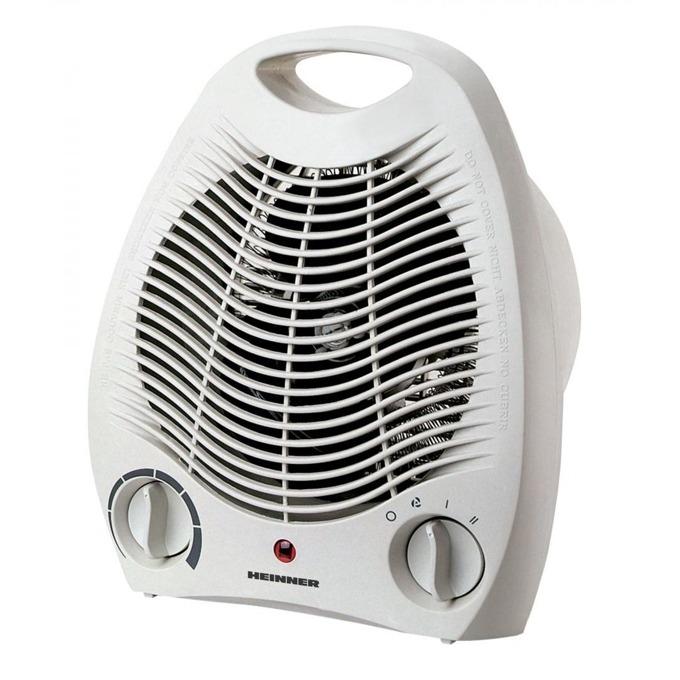 Вентилаторна печка Heinner HFH-L2000WH, 2000W, 2 степени на мощност, термостат, защита срещу прегряване, бяла image