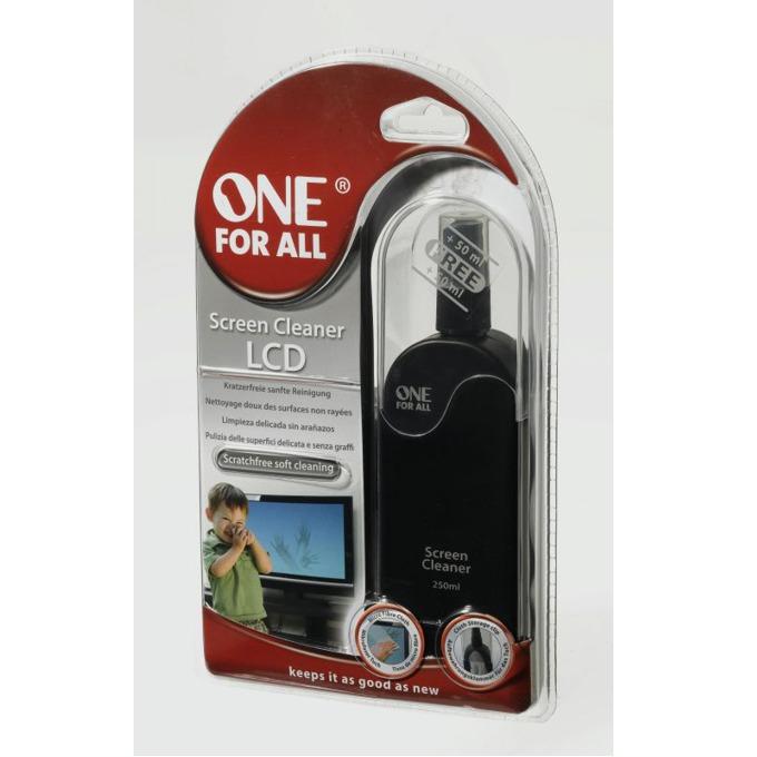 Почистващ комплект за LCD монитори, One for all, 250 ml. image