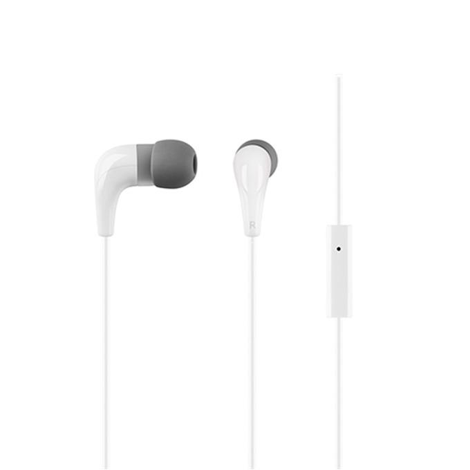 """Слушалки Acme HE15W, тип """"тапи"""", микрофон, 20 Hz – 20 kHz, 1.30m кабел, позлатен конектор, бели image"""