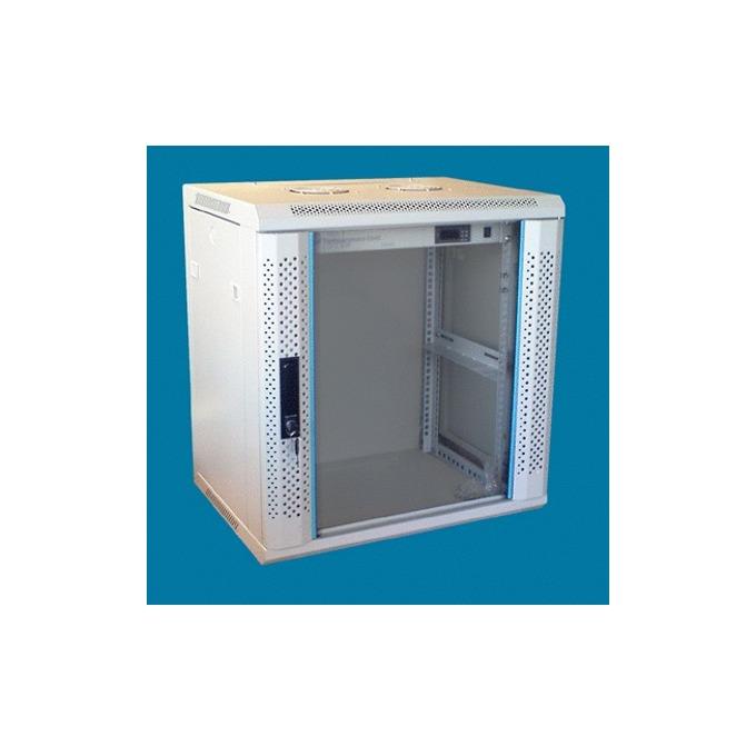 "Комуникационен шкаф Toten WM.6412, 19"", 12U, 600x450 мм, до 60кг товароносимост, сваляеми страни image"